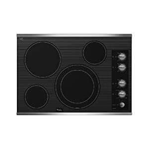 Black Whirlpool Gold Electric Cooktop