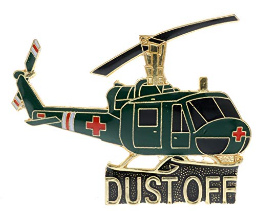 Sujak Military Items Large Dustoff Medevec Vietnam Huey Helicopter Hat Pin HON16105 F4D16Q