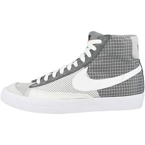 Nike Sneaker da uomo Mid Blazer Mid '77 Patch, Grigio (Grigio fumo con particelle grigie e bianco antracite), 46 EU