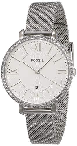 Fossil Women's Jacqueline Quartz Mesh Three-Hand Watch, Color: Silver Mesh (Model: ES4627)