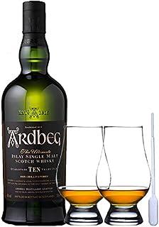 Ardbeg TEN 10 Jahre Islay Single Malt Whisky 0,7 Liter  2 Glencairn Gläser und Einwegpipette