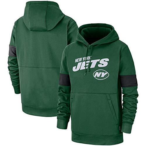 DKZ Herren Hoodie – NFL New York Jets Fußballteam Hoodies,Kapuzenpullover Casual Sweatshirt Langarm Basketball Training Anzug Fitness Kleidung XXL