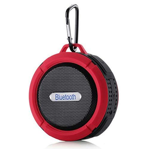 Chongbeier Mini Altavoz Bluetooth inalámbrico portátil Resistente al Agua con mosquetón Uso al Aire Libre