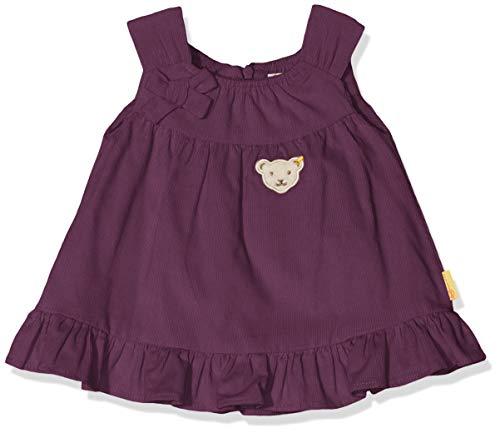 Steiff Baby - Mädchen Kleid , Violett (HORTENSIA 7021) , 74 (Herstellergröße:74)