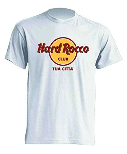 Mister Patch - Hard Rock T-Shirt Parodia - Divertente Hard Rocco - Personalizzata con la Tua Città - 100% Cotone (M, Club)