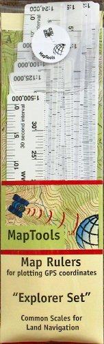 Explorer Map Ruler Set - 24 Ruler Covering 24 Different Map Scales