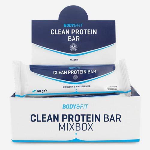 Body & Fit Clean Protein Bar Mix Box Neu (4X3 Sorten) 720 gramm (12 riegel)