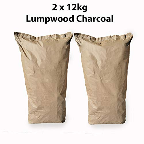 Restaurant Grade Cooking Lumpwood Charcoal 2 x 12kg, Perfect For Charcoal...