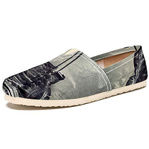 TIZORAX Slip on Loafer Schuhe für Frauen Boxhandschuhe an der Wand Bequem Casual Canvas Flacher Bootsschuh, Mehrfarbig - mehrfarbig - Größe: 37 EU