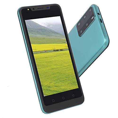 Lazmin112 Teléfono Inteligente con reconocimiento Facial de Pantalla de 5.0 Pulgadas, Doble Tarjeta, Doble Modo de Espera, desbloqueo de Huellas Dactilares, teléfono móvil de 512 MB + 4 GB(Verde)
