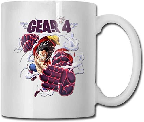 One Piece Gear 4 Punch lustige Keramik Tasse weiß Kaffeebecher 10oz