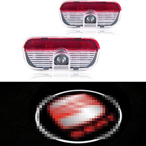 La puerta del LED del logotipo de la luz del proyector, for Seat Alhambra 2011 del emblema del coche inalámbrica Bienvenido Lámparas dinámico Advertencia Car Styling accesorios de la decoración 2pcs 9