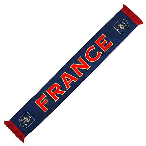 FFF - Official France Soccer Team FFF Fan Scarf - Blue, Red