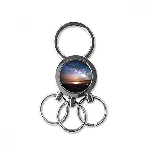DIYthinker Nebulae Galaxy Dark Night Sky Metall-Schlüsselanhänger Ring-Auto Keychain Kreative Schmuck Keyring Neuheit Artikel Beste Charme-Geschenk