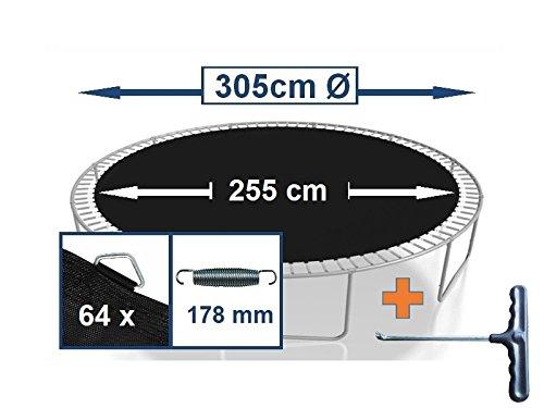 Sprungtuch Sprungmatte Ersatzteile für Trampolin Ø 305 cm 64 Ösen (Federn 17,8 cm)