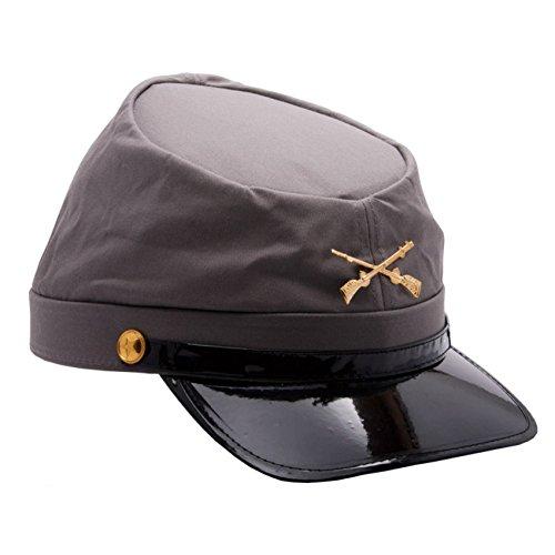 MyPartyShirt Gorra de soldado confederado del ejército de la Guerra Civil