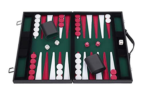 Engelhart - Tavola Reale Backgammon 15' 38 cm - tric trac (verde/rosso/bianco)
