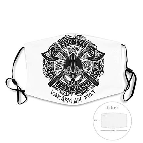 NA Viking krijgbaar helm bijlen draak dotem druk gezichtsmasker stofbescherming halfgelaatsmaskers