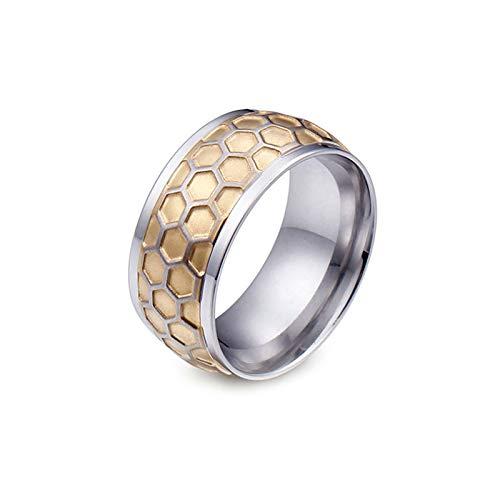 Daesar Titan Ring für Männer Poliert Rund 10 MM Partnerring Gold Ring Freundschaftsringe Große 62 (19.7)