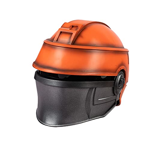 Resina Casco Accesorios Cosplay Disfraces Halloween Mscaras de miedo para adultos (naranja)