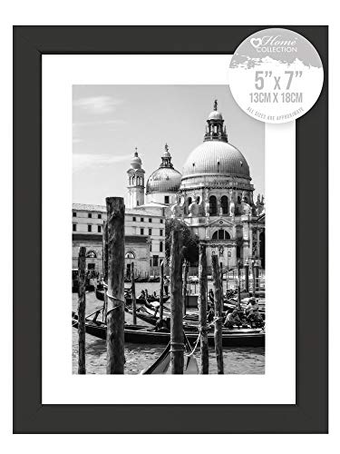 Black Nouveau Simple Design Styrene Photo Frame 5x7'