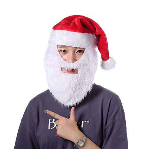 ELECTRI,Chapeau de Noël Bonnet Père Noël Déguisement Noël Enfant Adulte Bébé Fille Garçon