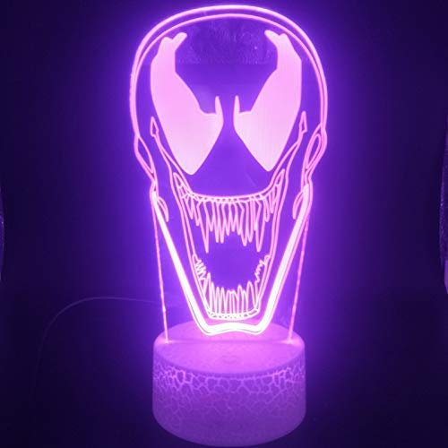 Oogdruppels Anti Venom 3D Light Nachtlamphouder Powered Interieur USB Nachtlampje LED-licht