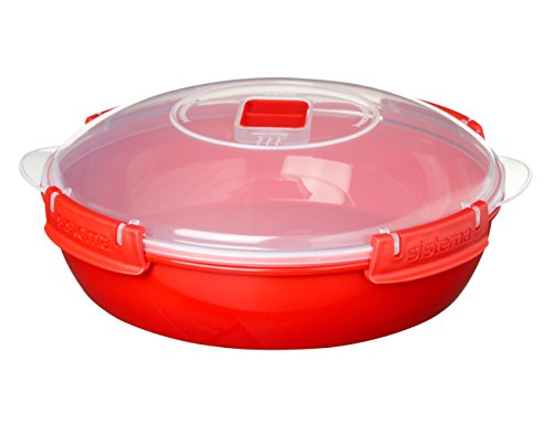 Sistema Round Microwave Dish, Red, 1.3 L