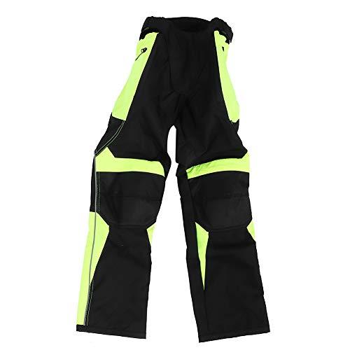Pantalones de motocicleta Pantalones de trabajo de carga para hombres Pantalones de montar Pantalones reflectantes de carreras antidesgaste transpirables(L)