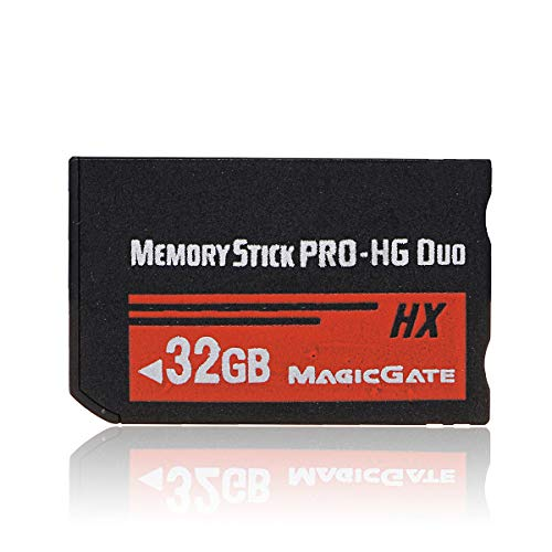 Nrpfell 32GB Tarjeta de Memoria Ms Pro Duo HX Tarjeta Flash para PSP Cybershot Cámera