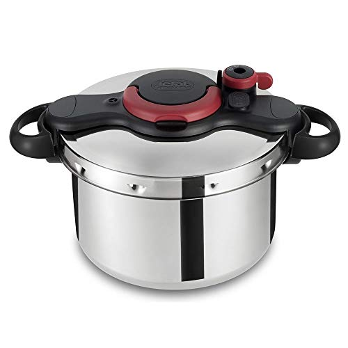 Tefal Clipsominut Easy Pressure Cooker, Red/Black, P4624866