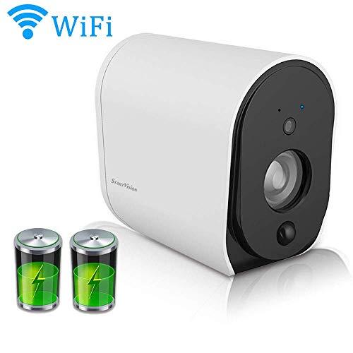 Inicio pilas de cámaras de seguridad, la cámara IP sin cables 1080P Wifi HD con la visión nocturna de detección de movimiento, 2.4 GHz Wi-Fi al aire libre / cámara de vigilancia Wirels interior, IP65