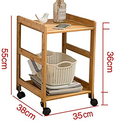 Amazon.com: BarleyHome Mesa auxiliar de altura ajustable ...