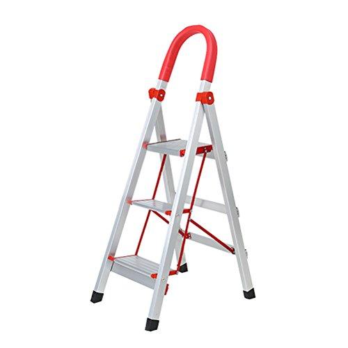 Jia He Step feci Folding Extension Ladder - Scaletta per scaletta pieghevole Homewares per adulti Pieghevole in alluminio 3 4 5 Scaletta scorrevole con tappetino antiscivolo e serrature di sicurezza J