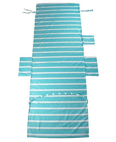 chengsan Strandliege Sitzbezug Liege Mate Strandtuch Sonnenliege für Urlaub Garten Lounge mit Taschen, 9, 75 x 215 CM / 29.5 x 84.6 inches