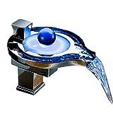 ZJRA Waschbecken Wasserhahn LED RGB Licht Wasserfall Einhandglas Waschbecken Badarmaturen Waschraum Waschtischarmaturen Mit Armaturen Schläuche & Armaturen,