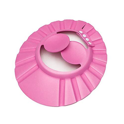 Bagnetto cappello,Baby Bathing Hat,regolabile in EVA per bambini bagno doccia shampoo Cap,Prodotti per la cura dei bambini professionali(rosa)