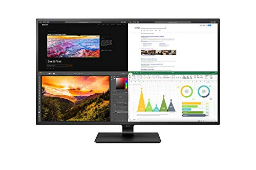 "LG 43"" IPS UHD 4K Monitor with USB Type-C, 4 HDMI, OnScreen Control, Remote & HDCP 2.2 Compatible, Black (43BN70U-B)"