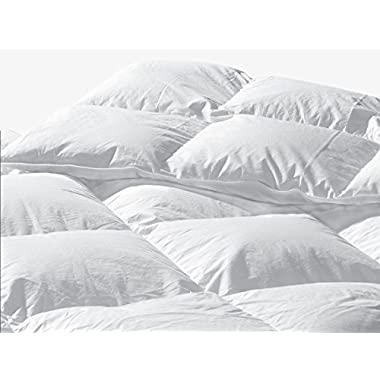 289 TC Queen Size 88 x 90 White Goose Down Comforter: Standard Fill by Highland Feather