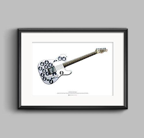 George Morgan Illustration Syd Barrett Fender Esquire Gitarre Kunst Poster A2 Größe