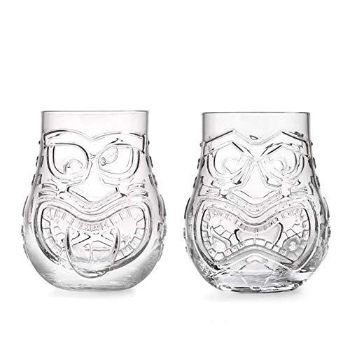 WUHUAROU 500ml (16.5oz) Vaso Tiki Premium Vaso de Jugo Vaso Tiki (Size : 2pcs)