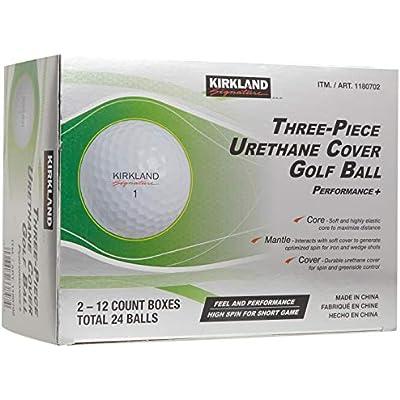 Kirkland Signature Pelota de Golf con Cubierta de uretano, 3 Piezas, 2 docenas