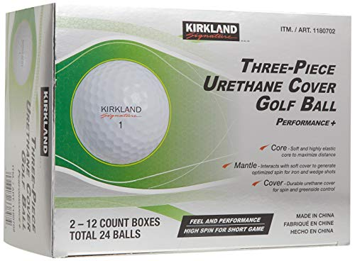 Kirkland Signature 3-piece Urethane Cover Golf Ball, 2-dozen
