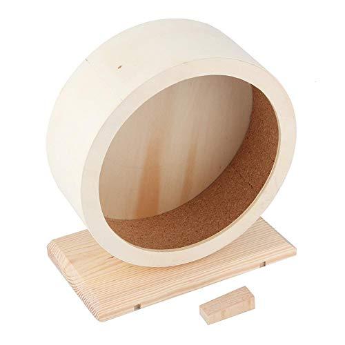 Pssopp Hamster Holzlaufrad Holz Laufrad Spielzeug für Hamster Meerschweinchen Igel Chinchilla(S)