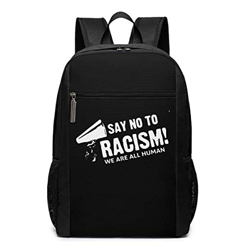 ZYWL Say No to Racism Utra-Premium 17-inch Travel Laptop Backpack, Bookbag, Business Bag