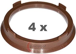 4 x Zentrierringe, Kunststoff 67.1mm auf 57.1mm braun