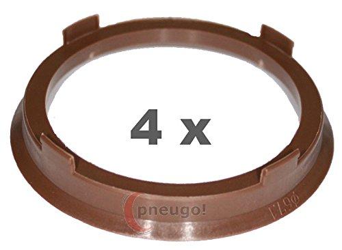 4 x pneugo! Bagues de centrage pour jantes alu 67.1 mm - 57.1 mm