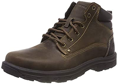 Skechers Men's Segment-Garnet Hiking Boot, Chocolate, 8.5 Medium US