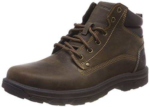 Skechers Men's Segment-Garnet Hiking Boot, Chocolate, 10.5 Medium US