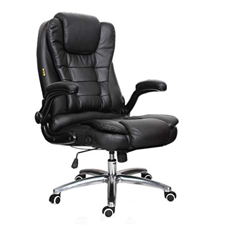 Price comparison product image High-End Office Computer Desk Chair with Leather Armrest,  Leather Gaming Chair with Adjust Seat Height,  Super Thick 3D Design Massage Chair - Classic Black